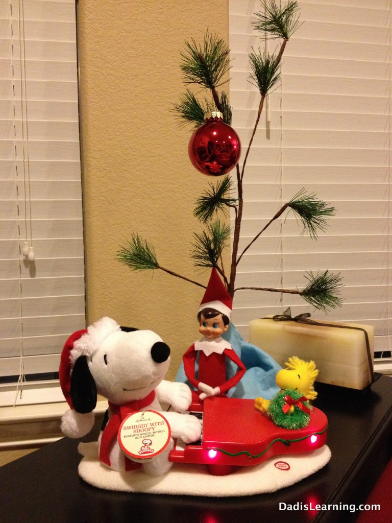 elf on the shelf snoopy