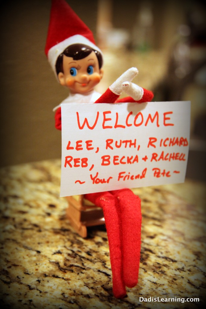elf on the shelf welcome