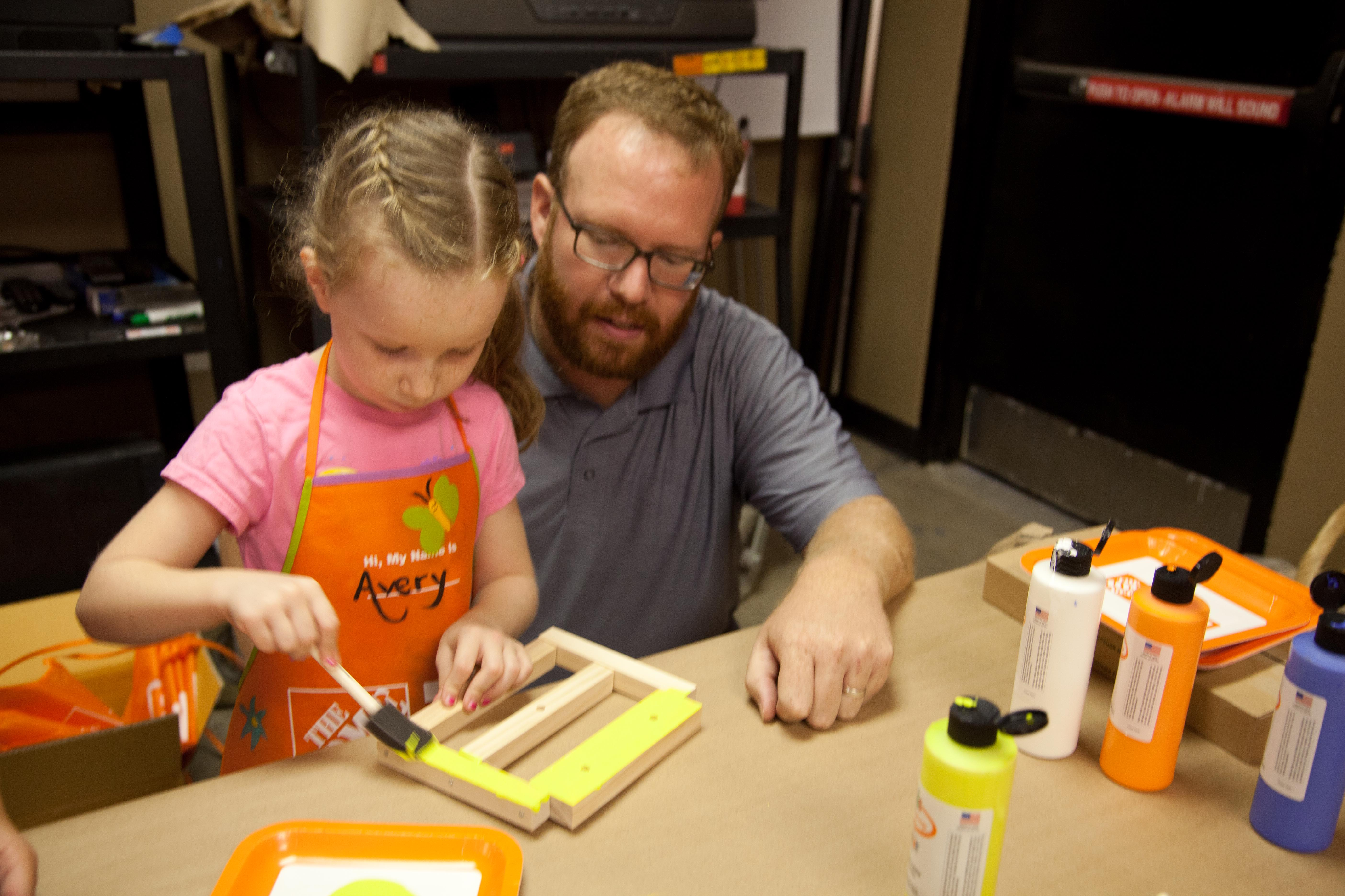 Home depot craft paint dad is learning for Kids crafts at home depot