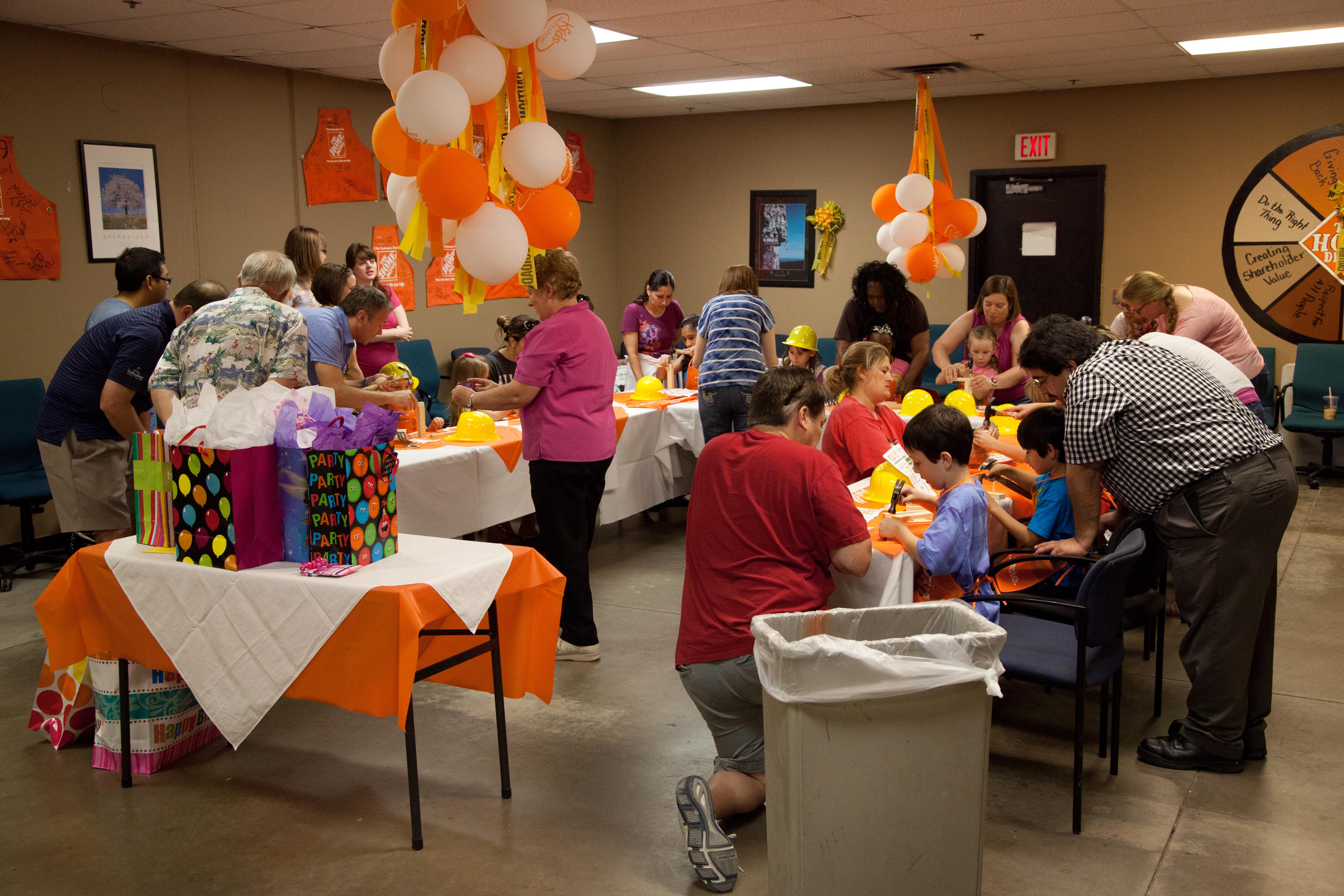 Home Depot Kids Workshop Party Dad Is Learning