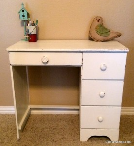 The finished project.  I am a fan of DIY chalk paint.