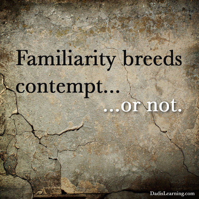 essay familiarity breeds contempt