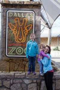 Our little family at the Dallas Zoo.