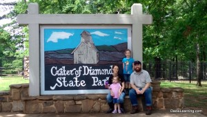 family at crater of diamonds