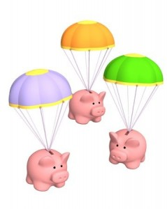 piggy bank parachute