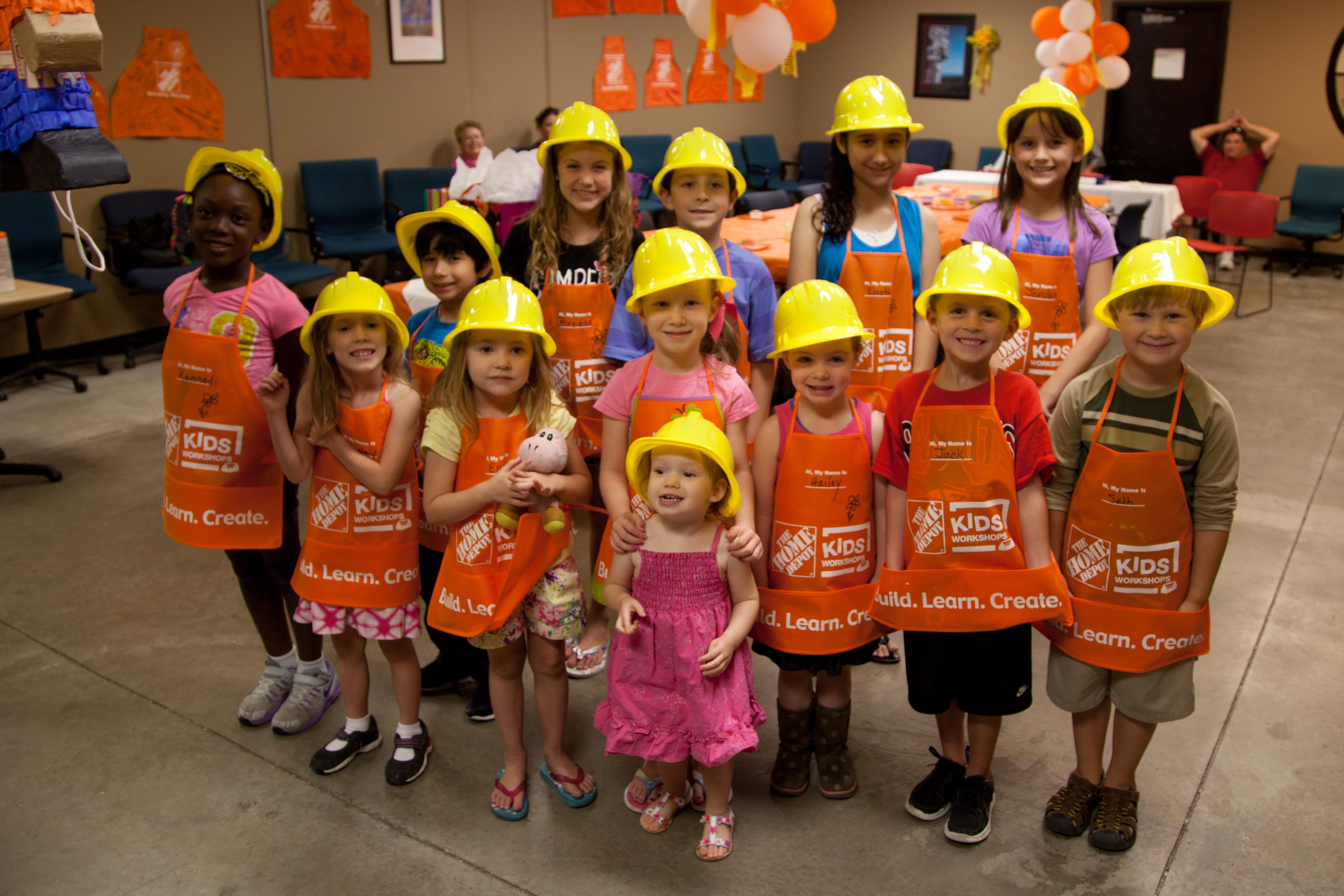 Kids At Home Depot Party